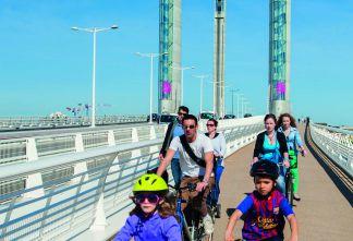 Pont Chaban-Delmas - Cyclistes